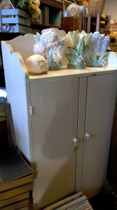 white cottage cupboard